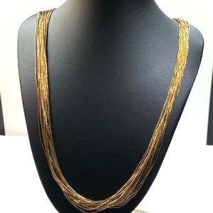 GOLD FILLED VINTAGE LIQUID GOLD STRAND NECKLACE